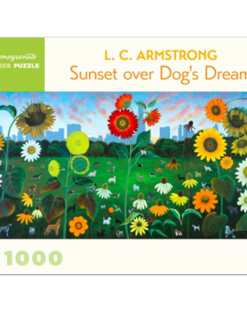 L. C. ARMSTRONG SUNSET OVER DOG'S DREAM 1000 PIECE PUZZLE