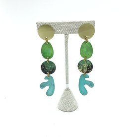 SHAPES IN A LINE EARRINGS AMAZONIA