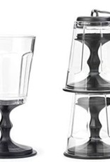 STACKING WINE GLASS BLACK S/2