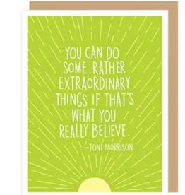 APARTMENT 2 CARDS TONI MORRISON GRADUATION QUOTE CARD