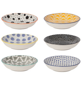 Pinch Bowl Set6 Bits Dots Mult