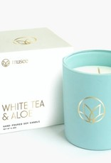 MUSEE WHITE TEA AND ALOE CANDLE