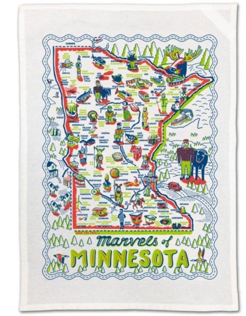 ONE HUNDRED EIGHTY DEGREES MINNESOTA MARVELS DISH TOWEL