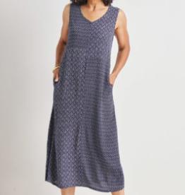 MIXED PANEL VNECK DRESS