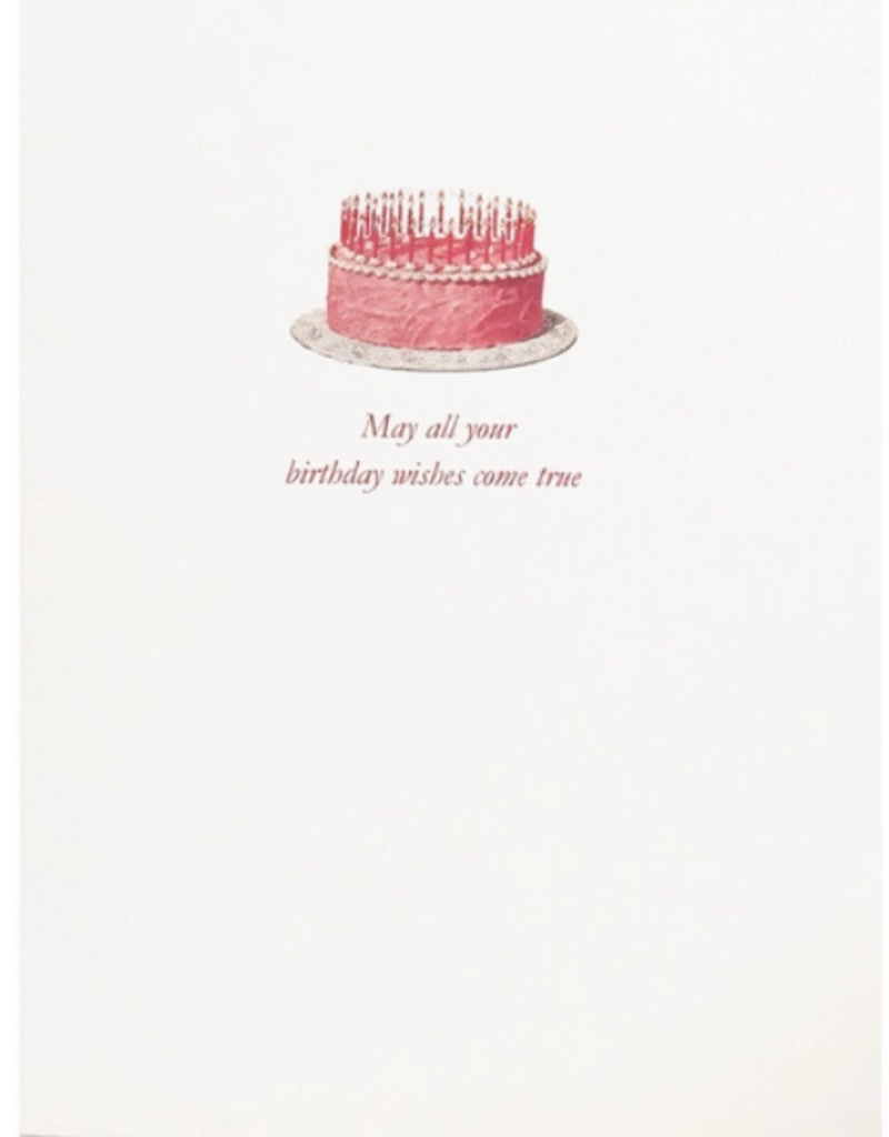 LUMIA DESIGNS PINK CAKE WISHES CARD