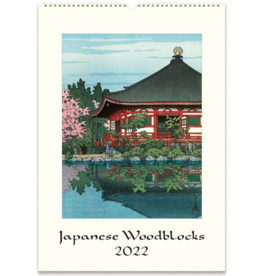 JAPANESE  WALL WOODBLOCK CALENDAR 2022