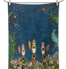 GREENBOX ART SQUIRREL ROYALE TEA TOWEL