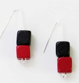 BLACK RED AMALFI EARRINGS