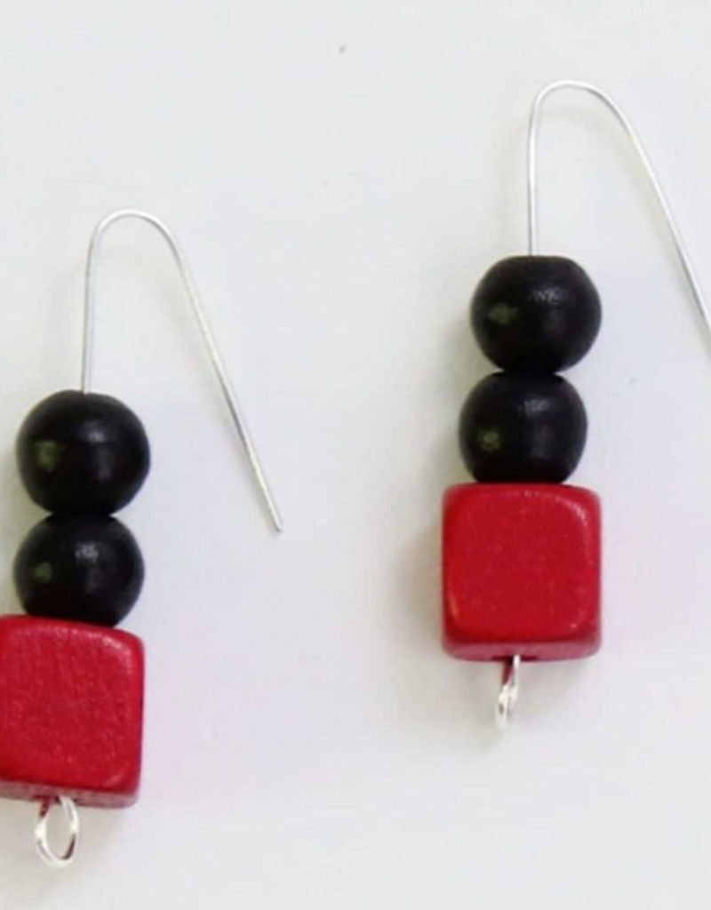 RED CECILLA EARRINGS