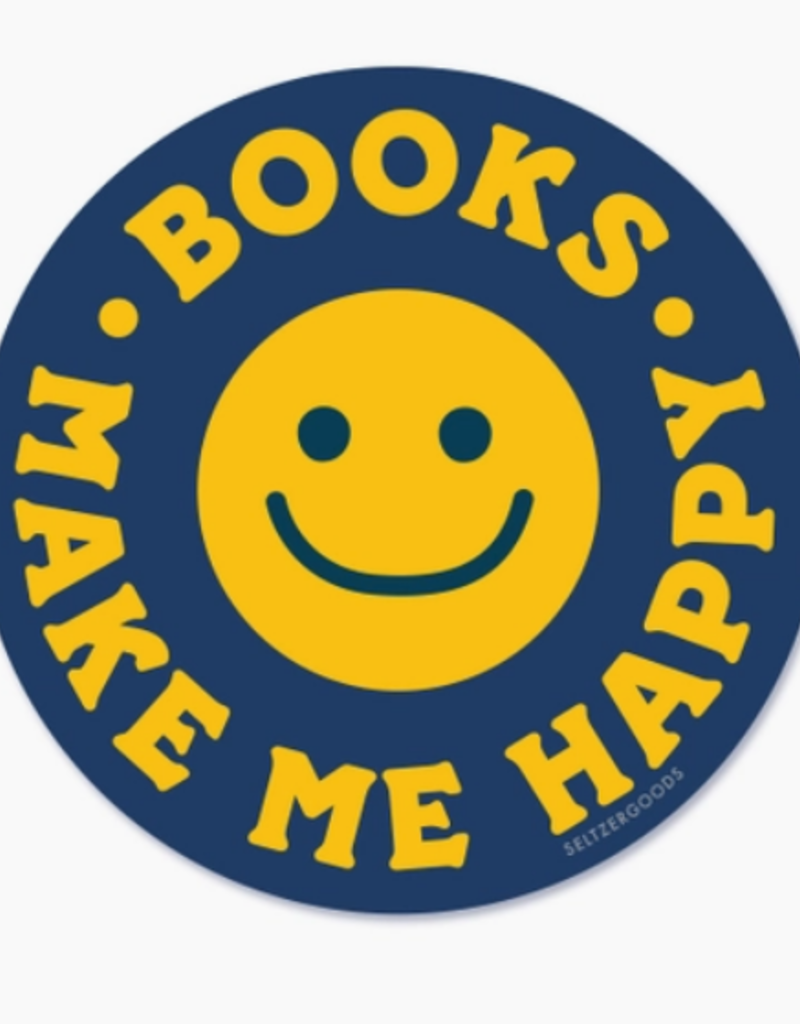 HAPPY BOOKS SMILEY STICKER
