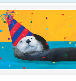 OTTER PARTY BIRTHDAY CARD