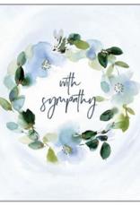 SOFT BLUE WREATH SYMPATHY CC