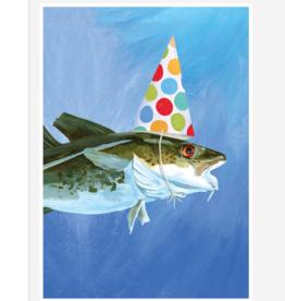 PARTY COD FISH BIRTHDAY CARD