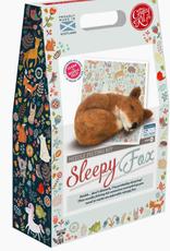 THE CRAFTY KIT COMPANY SLEEPY FOX NEEDLE FELTING KIT