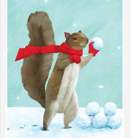 SNOWBALL SQUIRREL HOLIDAY CARDS