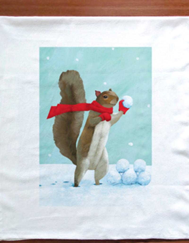 SNOWBALL SQUIRREL TOWEL