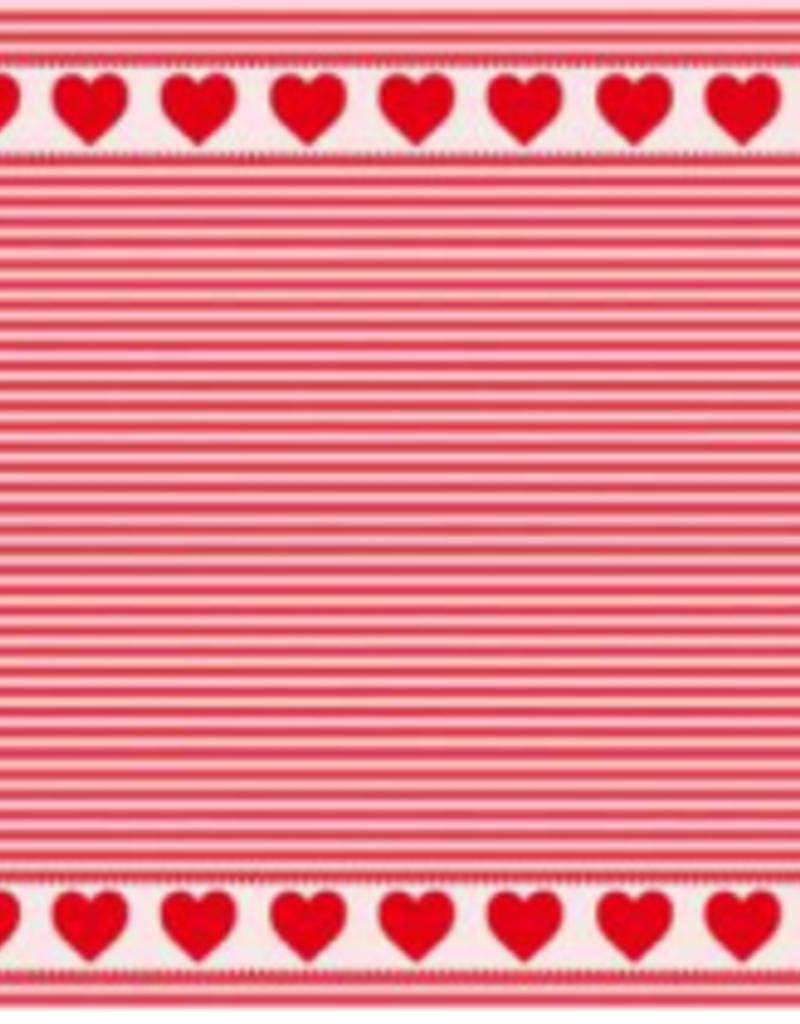 MIERCO HEARTS & STRIPES DISH TOWEL