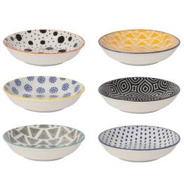 Pinch Bowl Set6 Bits Dots Mult