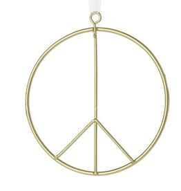 ACCENT DECOR PEACE SIGN ORNAMENT