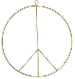 """ACCENT DECOR 14"""" PEACE BRASS WREATH"""