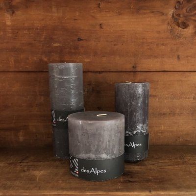 Rustic Pillar Candles - 6 Colors & 3 Sizes