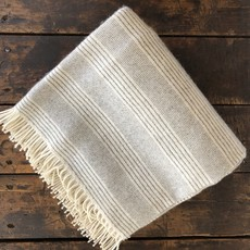 Alpaca Throw Natural Stripe