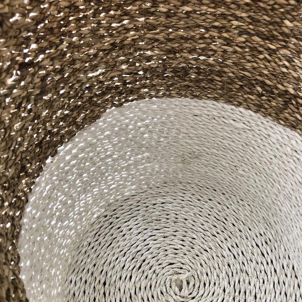 Zodax Seagrass Basket - 2 tone