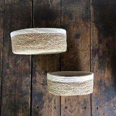Seagrass/Jute Oval Bowl - Set of 2