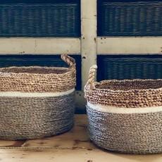 Tri-color Seagrass Basket