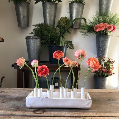 Ceramic Ivory Stem Vase