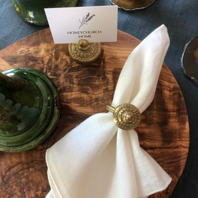 Cast Bronze Napkin Ring