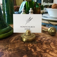 Cast Bronze Place Card Holder - Gold