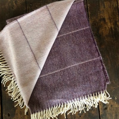 Alpaca Mauve Ombré Throw