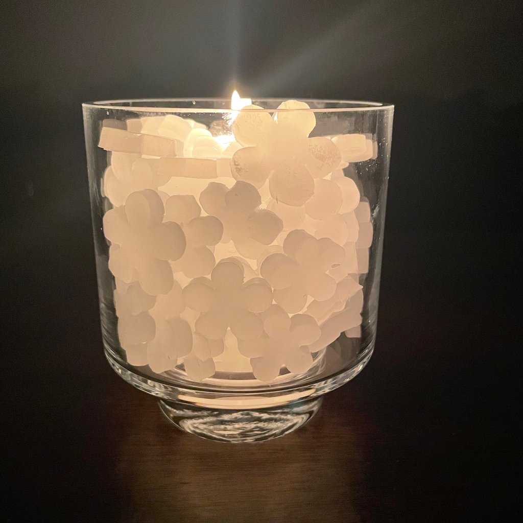 Candle - Hearts / large