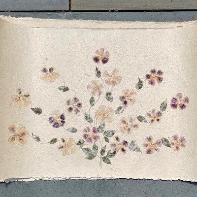 Flower Paper 24x35 - purple