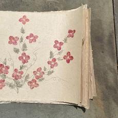 Flower Paper 24x35 - Red/Pine
