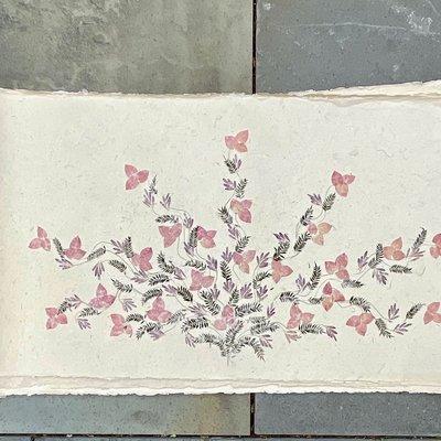 Flower Paper 30x59 - Pink Pine