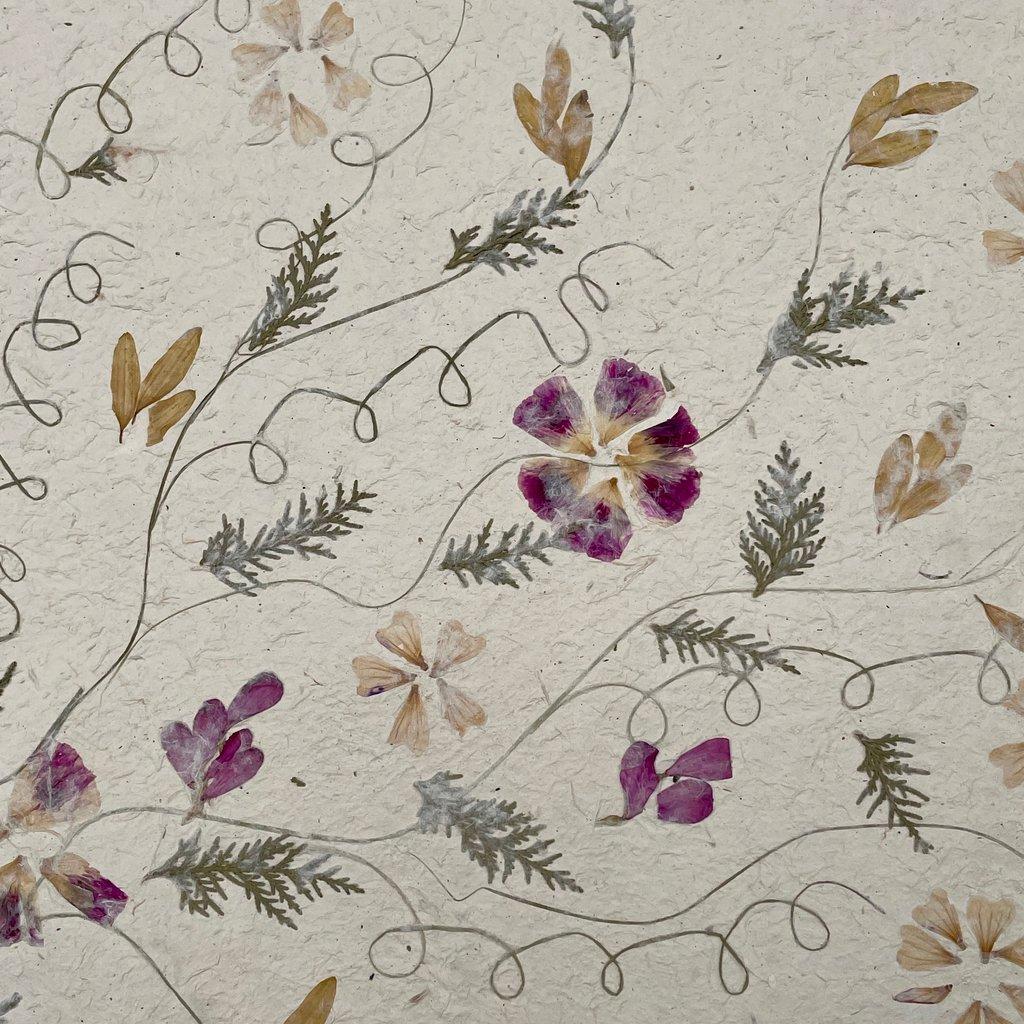 Flower Paper 30x59 - Purple/Yellow