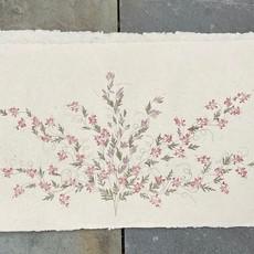 Flower Paper 30x59 - Red/Purple
