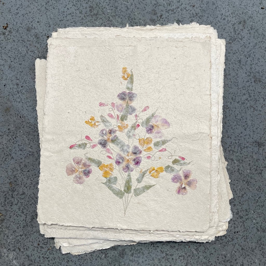 Flower Paper 20x18 - Purple/Yellow