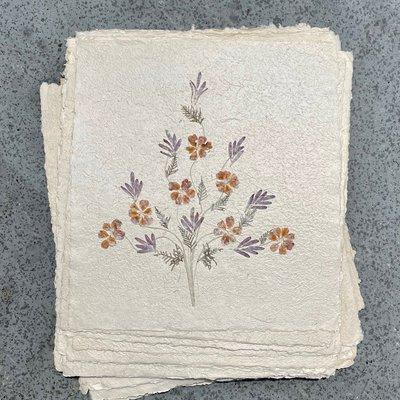 Flower Paper 20x18 - Purple/Orange