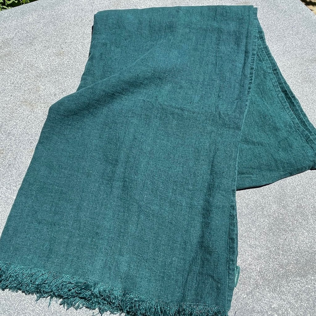 Milano Linen Throw - Forest