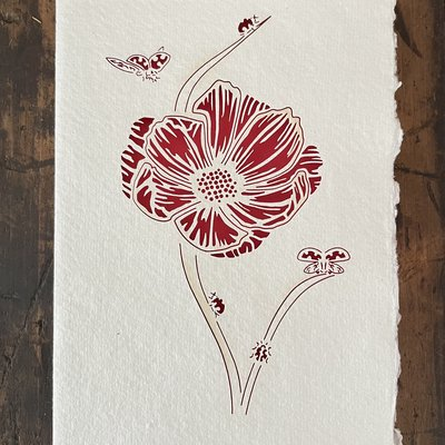 Laser Cut Card - Flower