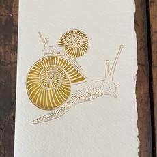 Laser Cut Card - Snail