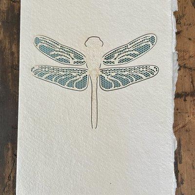 Laser Cut Card - Dragonfly