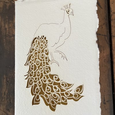 Laser Cut Card - Peacock