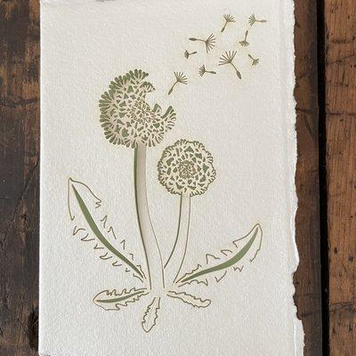 Laser Cut Card - Dandelion