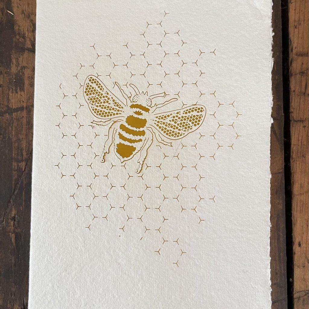 Laser Cut Card - Bee