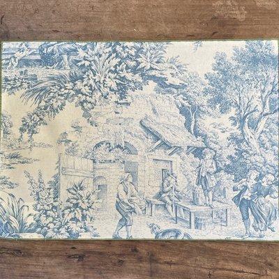 Toile de Joy Placemat- Blue/Fern