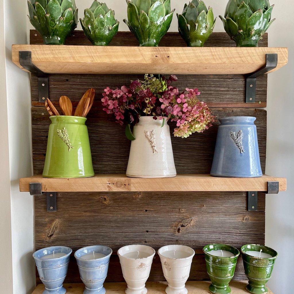 Mason Jar w/ Sprig - Green